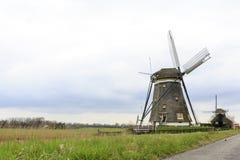 Nederlandse windmolen, Leidschendam dichtbij Den Haag Stock Foto's