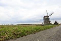 Nederlandse windmolen, Leidschendam dichtbij Den Haag Stock Fotografie