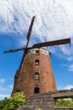 Nederlandse windmolen van 1765, behoord tot de prominente Pomeranian-families stock foto