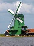 Nederlandse Windmolen Zaanse Schans Royalty-vrije Stock Foto's