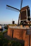 Nederlandse windmolens Stock Afbeelding