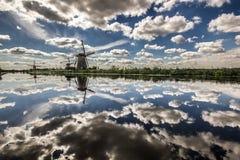Nederlandse Windmolens Stock Fotografie