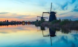 Nederlandse windmolens Royalty-vrije Stock Afbeeldingen
