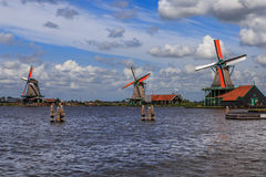 Nederlandse windmolens Royalty-vrije Stock Afbeelding