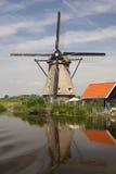 Nederlandse Windmolens van Kinderdijk royalty-vrije stock afbeeldingen