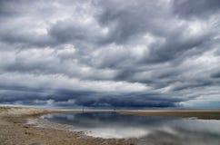 Nederlandse wolken stock foto