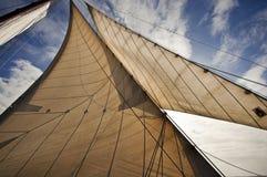 Nederlandse zeilboot Stock Foto's