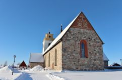 Nederluleå Church in Gammelstad Church Town Royalty Free Stock Photography