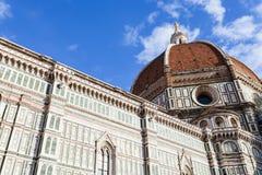 Nedersta sikt av kupolen av Florence Duomo Royaltyfria Bilder