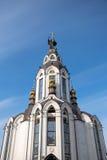 Nedersta sikt av kyrkan Arkivfoto