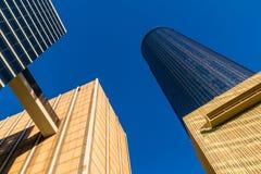 Nedersta sikt av skyskrapor, Atlanta, USA Arkivbild