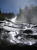 Nedersta sikt för bergvattenfall Royaltyfria Bilder
