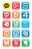 Nedersta/social massmediasymbolsuppdatering vektor illustrationer