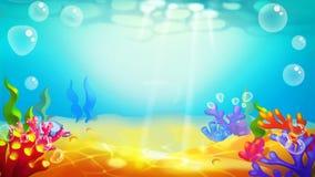 Nedersta Undersea för sand vektor illustrationer
