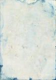Nedfläckad gammal akvarellpapperstextur Arkivfoton