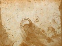 nedfläckad textur för glass gammalt papper arkivfoto