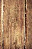 Nedfläckad trävägg för tappning Royaltyfri Foto