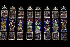 nedfläckada fönster för exponeringsglas Arkivbilder