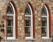 nedfläckada fönster för exponeringsglas royaltyfria bilder