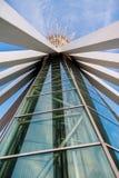 nedfläckada fönster för välvt arkitektoniskt elementexponeringsglas Royaltyfri Bild