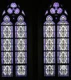 nedfläckadt fönster för 11 exponeringsglas Arkivfoton