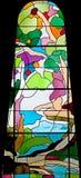 nedfläckadt fönster för 63 exponeringsglas Arkivbilder