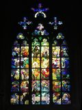 nedfläckadt fönster för exponeringsglas arkivbilder