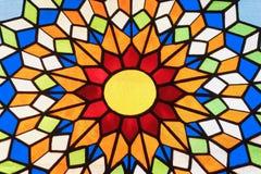 nedfläckadt fönster för exponeringsglas Arkivfoto