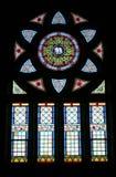 nedfläckadt fönster för exponeringsglas royaltyfri bild