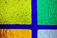 nedfläckadt fönster för färgrikt exponeringsglas Royaltyfri Foto