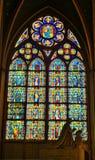 nedfläckadt fönster för glass klosterbroder Royaltyfri Fotografi