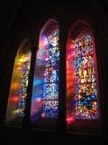 nedfläckadt tredubbelt fönster för exponeringsglas royaltyfri foto