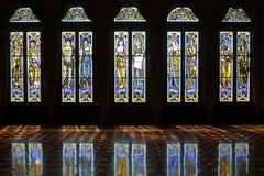 nedfläckada fönster för glass reflexioner Royaltyfri Fotografi