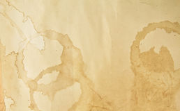 nedfläckad textur för kaffepapper Fotografering för Bildbyråer