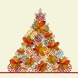 Nedgång Autumn Tree Royaltyfria Bilder