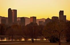 Nedgång Denver Sunset fotografering för bildbyråer