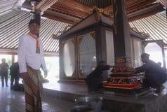 NEDGÅNG FÖR INDONESIEN TURISMBESÖK royaltyfria bilder