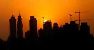 Nedgång i Dubai Royaltyfria Foton