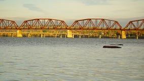 Nedgång i Fredericton, Kanada Fotografering för Bildbyråer