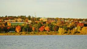 Nedgång i Fredericton, Kanada Royaltyfria Bilder