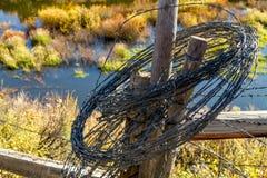 Nedgång i Steamboat Springs Colorado royaltyfri bild