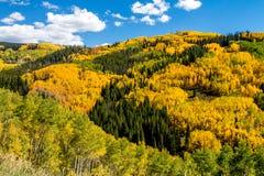 Nedgång i Steamboat Springs Colorado Royaltyfria Foton