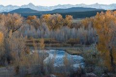 Nedgång i västra Colorado fotografering för bildbyråer