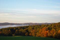 Nedgång i Vermont Arkivfoto