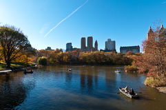 Nedgång på Central Park royaltyfria foton