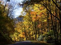 Nedgång på den blåa Ridge Parkway fotografering för bildbyråer