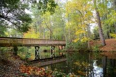 Nedgång på den Sesquicentennal delstatsparken Royaltyfria Bilder