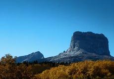 Nedgång på det högsta berget Fotografering för Bildbyråer