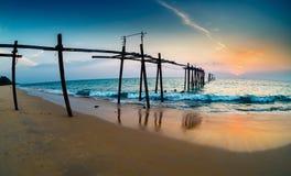 Nedgång på kusten Royaltyfri Bild