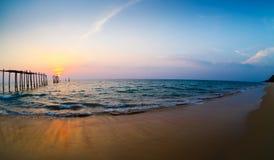 Nedgång på kusten Royaltyfri Foto